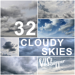 collection of 32 cloudy skies