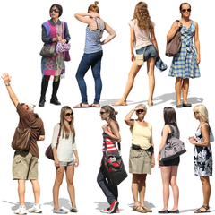 Standing People Collection