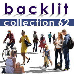 backlit cut out people collection