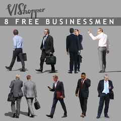 VIShopper free cut out people 8 businessmen
