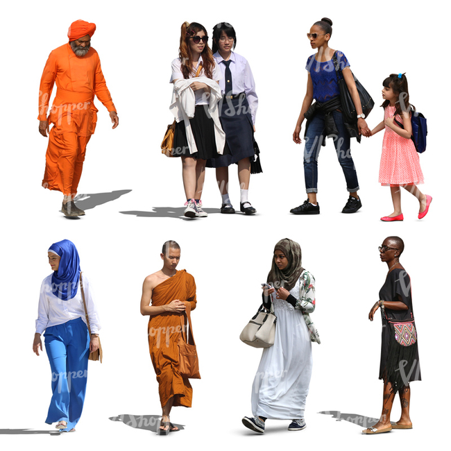 vishopper cut out people free diversity pack collections vishopper