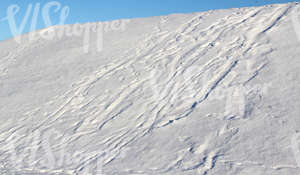 a slope covered with snow