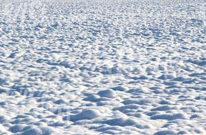 bumpy snow-covered ground