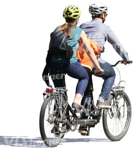 couple riding a tandem