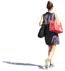 woman in a summer dress walking
