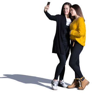 two teenage girls taking a selfie