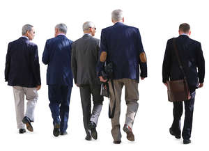 group of businessmen walking