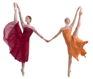 two ballerinas dancing