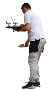 waiter putting things on the table