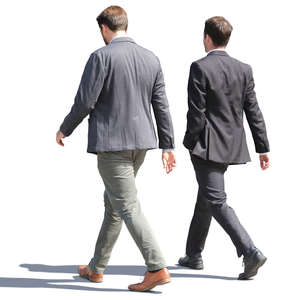 two businessmen walking on the street