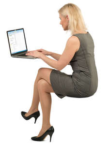 woman working in the office with laptop