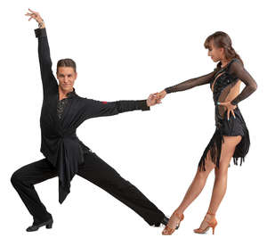 dancesport couple performing