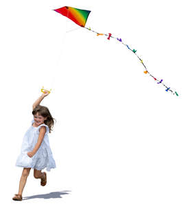 girl flying a kite