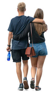 couple walking together in the summer