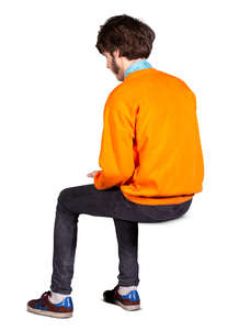 man sitting seen from behind