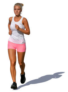 woman jogging on a sunny day