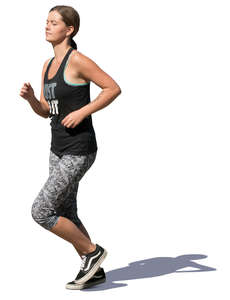 woman jogging in summertime