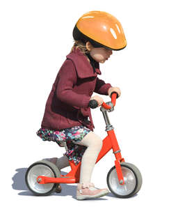 little girl with a likeabike