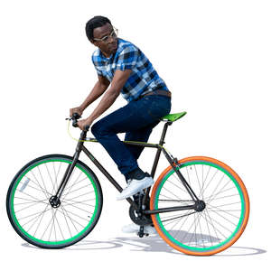 black man riding a bike
