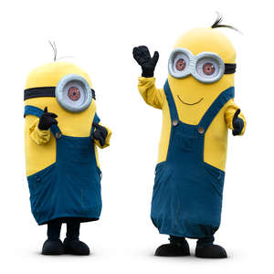 two minions standing