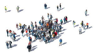 crowd of people seen from above