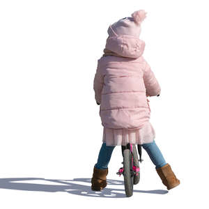 little girl riding a bike