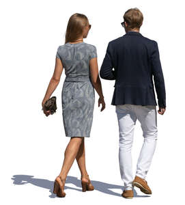 fancy man and woman walking