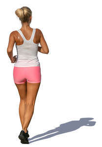 woman jogging on a summer day
