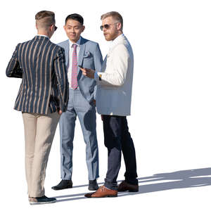 three fancy men talking