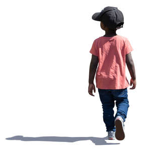 little black boy walking