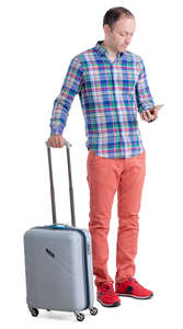 man with a suitcase standing