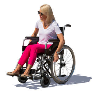woman sitting in a wheel chair