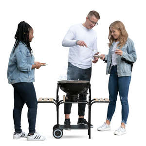 young people having a barbeque party