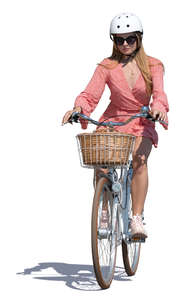 woman riding a city bike
