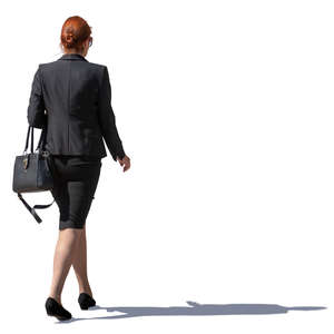 businesswoman walking on the street