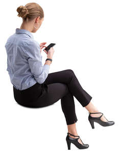 woman in an office sitting