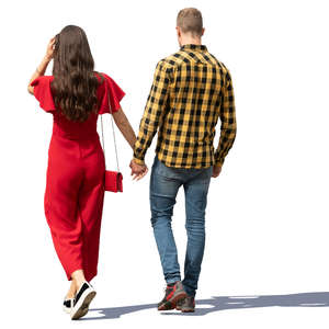 couple walking on a sunny day