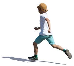 boy running on a summer day