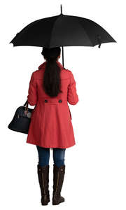 woman with an umbrella standing