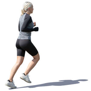 woman in a sports costume running