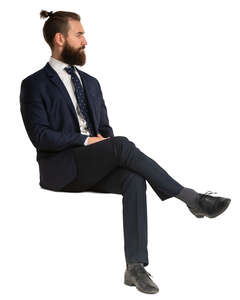 man in a suit sitting
