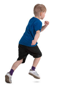 little boy running