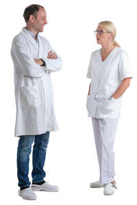 two doctors standing and talking