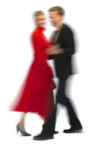 motion blur image of a couple dancing