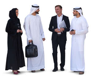 group of people in middle east having a business meeting