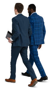 two young businessmen walking