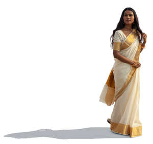 cut out woman in a saree standing