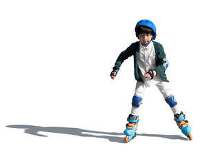 cut out little boy rollerskating