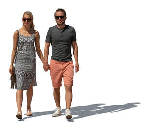 cut out couple walking hand in hand