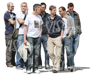 group of men walking